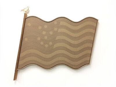 Lyndon Barrois Jr., 'Brown Paper Flag Test', 2017