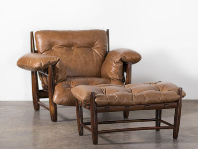 Sergio Rodrigues, 'Vintage 'Mole' Armchair with Ottoman ', 1957