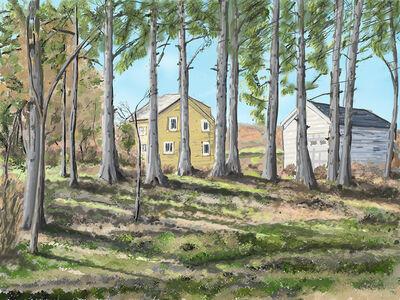 Thomas Collins, 'House Through Trees', 2020