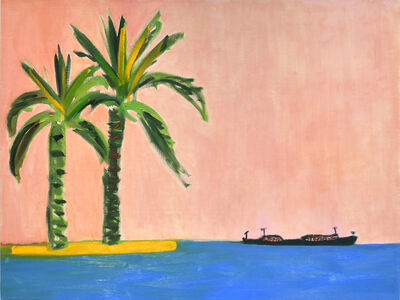 Elizabeth Enders, 'Palm Trees and Boat', 2020