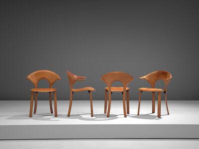 Matteo Grassi, 'Set of Italian Leather Armchairs', 1970s