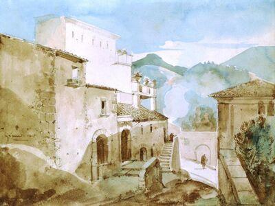 François-Marius Granet, 'View of an Italian Hilltown', 1815