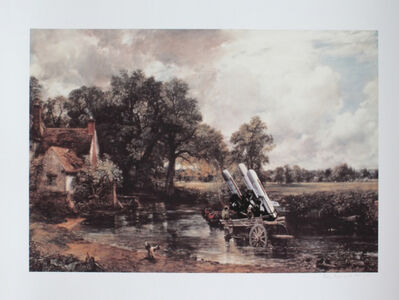 Peter Kennard, 'Haywain with Cruise Missiles', 2015