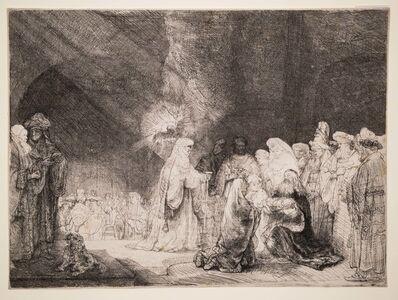 Rembrandt van Rijn, 'Simeon's Hymn of Praise [Presentation in the Temple: Oblong Print] [Luke 2:22-38]', ca. 1639