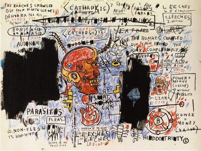 Jean-Michel Basquiat, 'Leeches', 2017