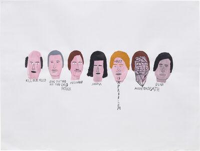 Chris Johanson, 'Heads, Kill or be Killed', 2004