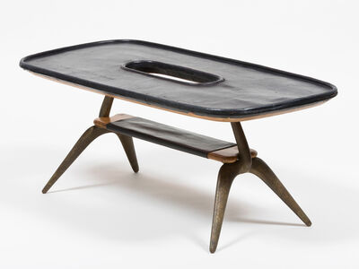 Carl Auböck, 'Leather Table', ca. 1970