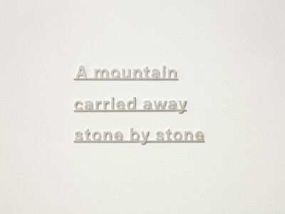 Katie Paterson, 'Ideas (A mountain carried away stone by stone)', 2017