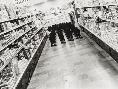 Eleanor Antin, '100 Boots in the Market', 1971