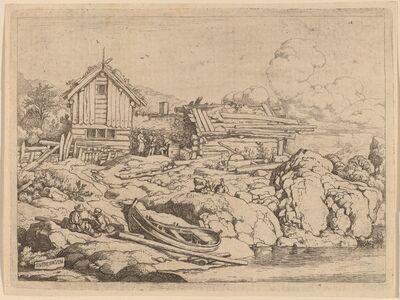 Allart van Everdingen, 'Boat at a River Bank with Three Goats', probably c. 1645/1656
