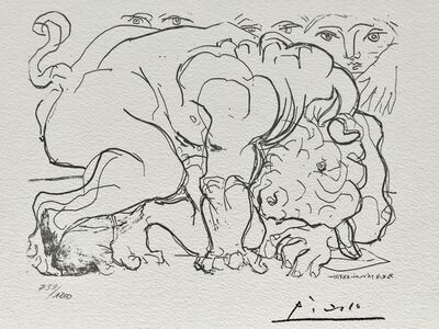 Pablo Picasso, 'Minotaure mourant (Suite Vollard Planche LXXXVIII)', 1973