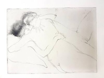 "Jean Gabriel Domergue, 'Original Etching ""The Hug"" by Jean-Gabriel Domergue', 1924"