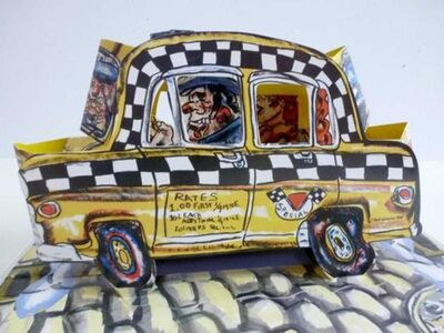 Red Grooms, 'Ruckus Taxi (Mini)', 2004