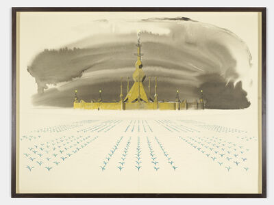 Charles Avery, 'Untitled (Elevation of a fort: era of the Pentagon)', 2020
