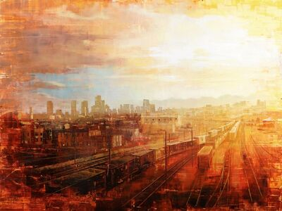 Christopher Clark, 'Denver - Afternoon Over the Tracks', 2018