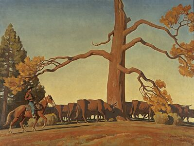 Lafayette Maynard Dixon, 'Top of the Ridge', 1933