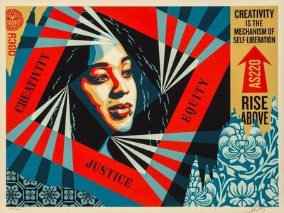 Shepard Fairey, 'Creativity, Equity, Justice', 2019