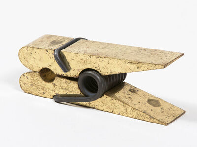 Carl Auböck, 'Brass Clothespin Paper Holder', ca. 1950