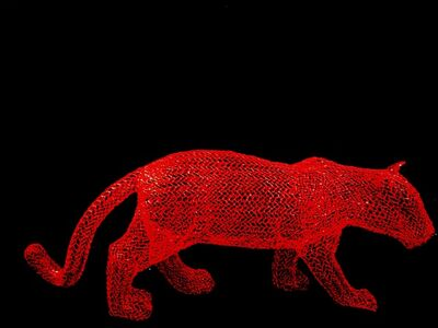 Eka Acosta, 'Red Jungle Cat', 2018