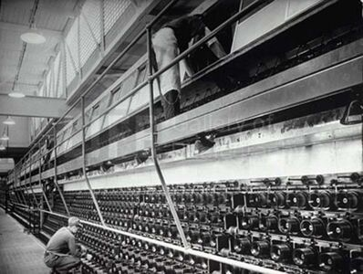 Margaret Bourke-White, 'Spinning Machines at the Industrial Rayon Corp Factory', 1939
