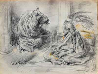 Pei Zhuangxin, 'Sketch ⼿稿《夢裡的對話》', 1997