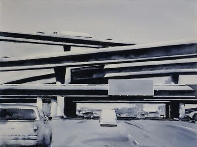 Ryan M. Reynolds, 'Freeway No. 10 / watercolor on paper mounted to panel', 2018