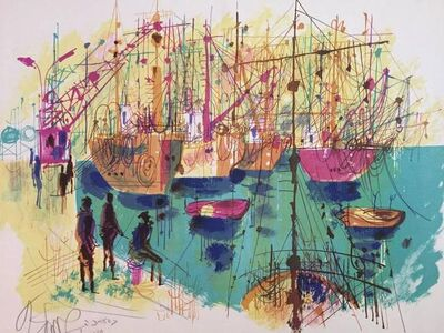 Shmuel Katz, 'Old Port Jaffa - Tel Aviv', 20th Century
