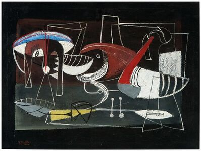 Emerson Woelffer, 'Cook and Fish', 1943