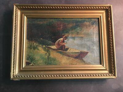 """Louis Comfort Tiffany, 'Louis Comfort Tiffany - """" Fishing""""', Circa. 1900"""
