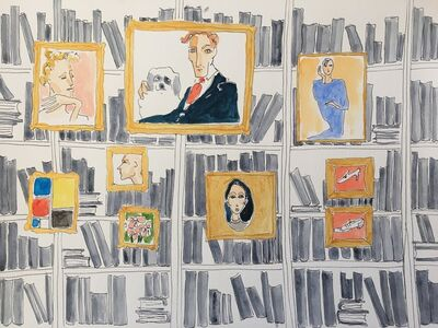 manuel santelices, 'The Library ', 2019