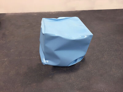 Alyson Shotz, 'Crushed Cube (blue)', 2018