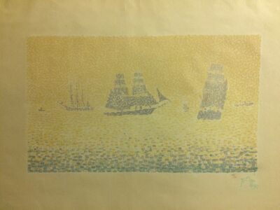 Paul Signac, 'Les Bateaux, state II', 1895