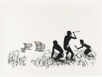 Banksy, 'Trolleys (Black and White) (unsigned)', 2007