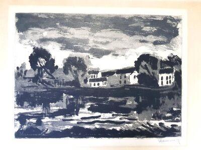 "Maurice de Vlaminck, 'Original Etching ""L'Oise à Cergy"" by Maurice de Vlaminck', 1924"