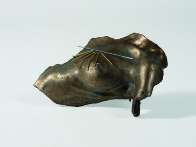 Takis, 'Magnetic Evidence sculpture in bronze', 1991