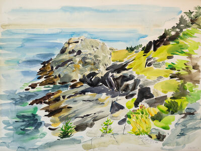 Edward Christiana, 'Gull Rock From Burnt Head', 1985