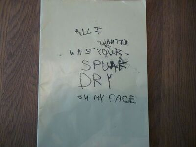 "Tracey Emin, 'TRACEY EMIN ""ALL I WANTED WAS YOUR SPUNK DRY ON MY FACE"" CATALOGUE', 1997"