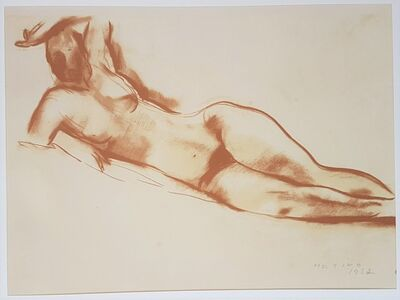 """Marino Marini, 'Rest - From """"A Suite of Sixty-three Re-creations of Drawings and Sketches in Many Mediums"""" ', 1968"""