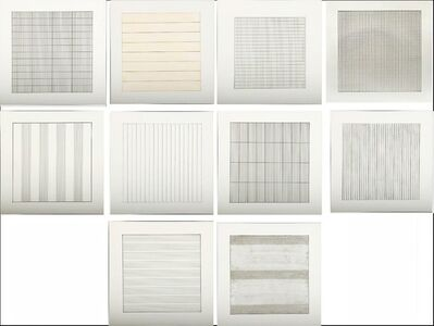 Agnes Martin, 'Paintings and Drawings 1974 - 1990, Suite of Ten (10) Limited Editions Lithographs (Stedelejk Museum)', 1991