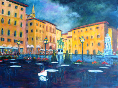 William Kelley, 'Cafe Rivoire, Piazza della Signoria, Firenze', 2012