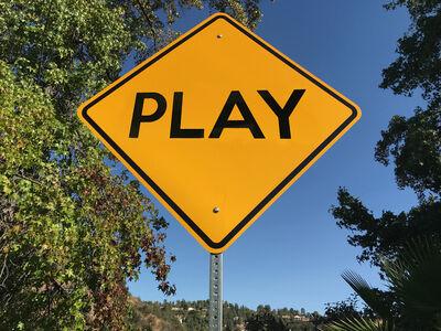 """Scott Froschauer, '""""Play""""- Contemporary Street Sign Sculpture', 2018"""