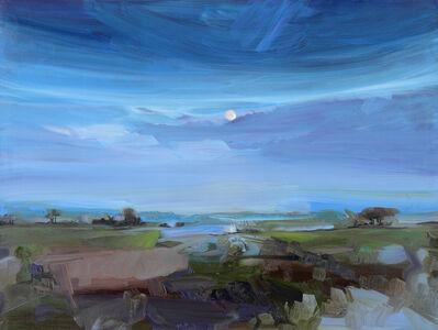 Simon Andrew, 'Moon Rise Across Lake', 2017