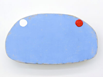 Otis Jones, 'Blue with White and Red Circles', 2018
