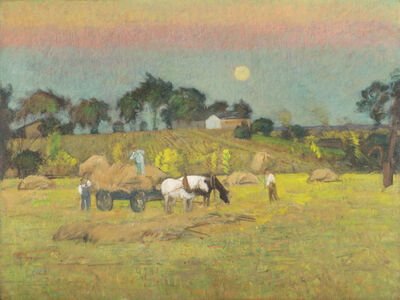 Theodore Wendel, 'Moonrise on the Farm', 19th -20th Century