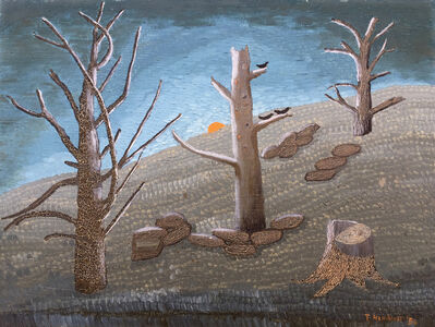 Theora Hamblett, 'Nocturne with Trees', 1956