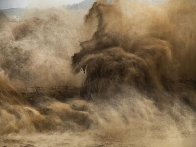 Edward Burtynsky, 'Xiaolangdi Dam #4, Yellow River, Henan Province, China', 2011