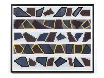 David Tremlett, 'Roll On #9 (5 lines= 5 days)', 2016