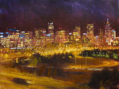 Christopher Clark, 'Denver Skyline from Speer and 23rd Ave at Night', 2015