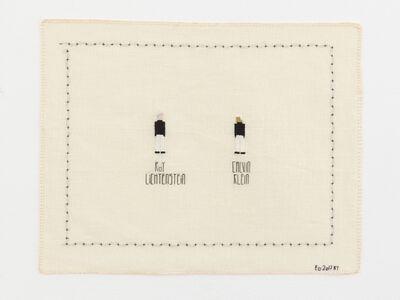 Elsa Hansen Oldham, 'Roy Lichtenstein and Calvin Klein', 2017