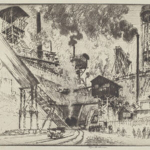 Joseph Pennell, 'Mouth of the Mine, Ruhrort near Oberhausen', 1910
